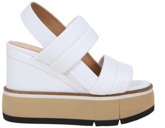 Paloma Barceló fauna Sandal In White Nappa Leather