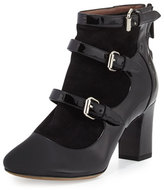 Tabitha Simmons Lucie Patent Multi-Strap Bootie, Black