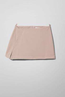 Weekday Sia Skew Mini Skirt - Brown