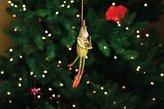Patience Brewster Arthur Green Cat Christmas Ornament 08-30558