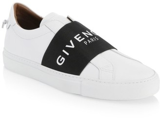 Givenchy Urban Logo Elastic Leather Sneakers