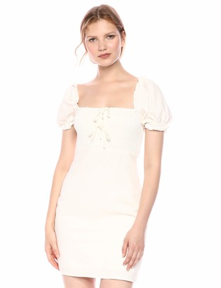 ASTR the Label Women's NINA Puff Cap Sleeve Bodycon Mini Dress
