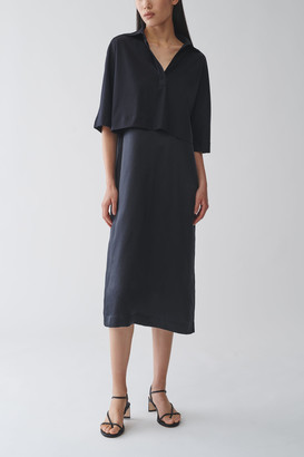 Cos Layered Cotton-Silk Shirt Dress