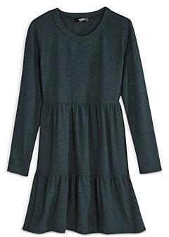 Aqua Girls' Hacci Tiered Dress, Big Kid - 100% Exclusive