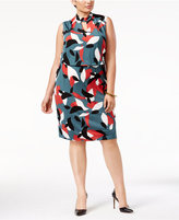 Nine West Plus Size Keyhole Sheath Dress