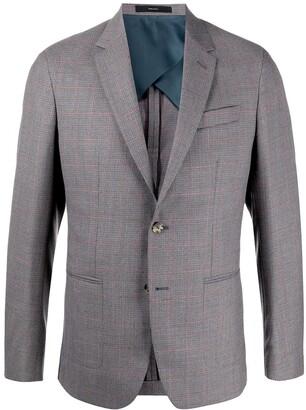 Paul Smith Check Print Suit Jacket