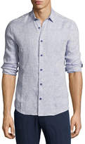 Orlebar Brown Morton Tailored Long-Sleeve Shirt, Navy