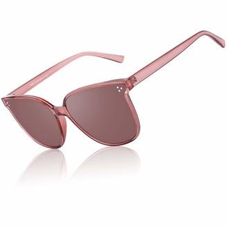 GQUEEN Retro Oversized Polarized Sunglasses for women UV400 Irregular Square Frame MF3