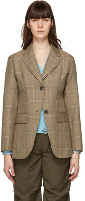 ANDERSSON BELL Brown Wool Check Tate Blazer