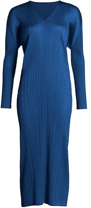 Pleats Please Issey Miyake Monthly Colors November Midi Dress