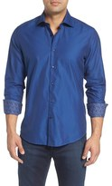 Stone Rose Men's Slim Fit Diamond Jacquard Sport Shirt