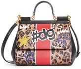 Dolce & Gabbana Large Miss Sicily Logo Faux Leather Satchel