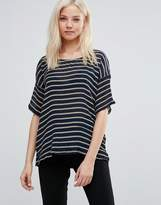 Vila Striped Short Sleeve T-Shirt