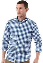 Timberland Mens Gingham Washed Poplin Long Sleeve Shirt True Blue