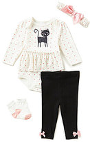 Starting Out Baby Girls Cat 4-Piece Layette Set