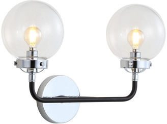 Jonathan Y Designs Caleb 2-Light 18In Brass Wall Sconce