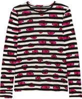 Proenza Schouler Printed Slub Cotton-jersey Top - Bright pink