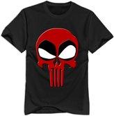 NC2FC Deadpool Punisher Skull 100% Cotton T Shirt For Men S Design T-shirt