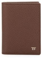 Tom Ford Folded Calfskin Credit Card Case, Brown