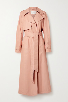 Carolina Herrera Belted Leather Trench Coat - Blush