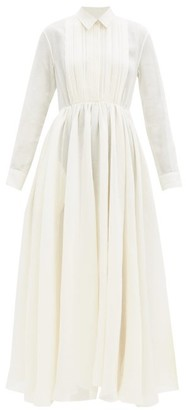 Jil Sander Nouvelle Papier-gauze Shirt Dress - Cream