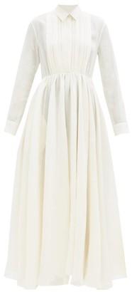 Jil Sander Nouvelle Papier-gauze Shirt Dress - Cream