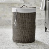 Crate & Barrel Sedona Grey Hamper with Liner