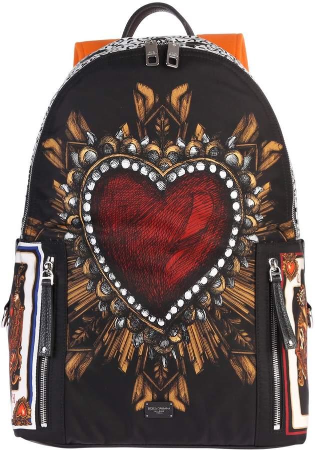 Dolce & Gabbana Printed Nylon Backpack