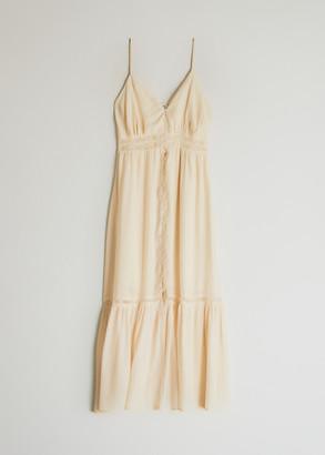Farrow Women's Ingrid Button Down Dress in Cream, Size Small