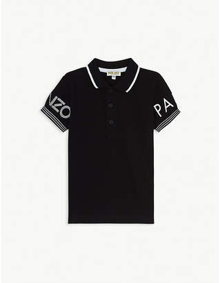 Kenzo Logo-embroidered cotton polo shirt 4-14 years