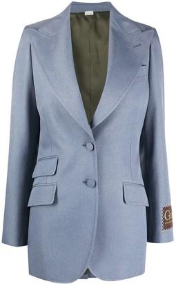 Gucci label single-breasted blazer