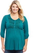 Motherhood Plus Size Lace Maternity Top