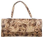 Fendi Embossed Leather Shoulder Bag