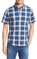 Tailor Vintage Men's Regular Fit Short Sleeve Check Sport Shirt