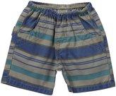 Charlie Rocket Stripe Twill Shorts (Baby) - Stone-6-9 Months
