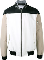 Les Benjamins zipped bomber jacket - men - Cotton/Leather/Polyamide/Spandex/Elastane - S
