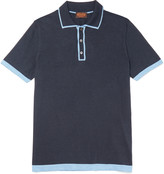 Tod's Contrast-Tipped Silk and Cotton-Blend Polo Shirt