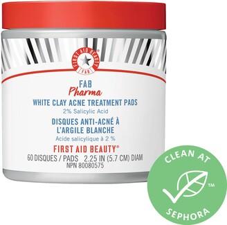First Aid Beauty FAB Pharma White Clay Acne Treatment Pads 2% Salicylic Acid