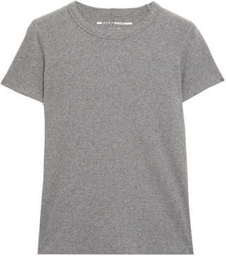 DKNY Embroidered Stretch Cotton And Modal-blend Jersey T-shirt