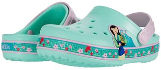 Crocs Fun Lab Disney Mulantm Clog (Toddler/Little Kid) (New Mint) Girl's Shoes