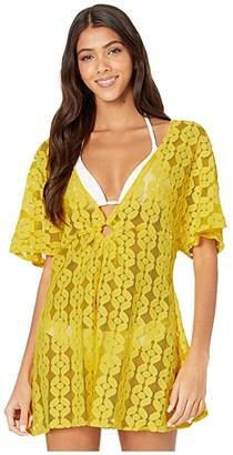 Jessica Simpson Nice Lemons O-Ring Cover-Up (Lemon) Women's Swimwear