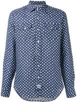 Hydrogen star print shirt - men - Linen/Flax - S