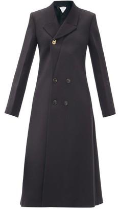 Bottega Veneta Double-breasted Wool-blend Twill Coat - Black
