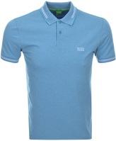 BOSS GREEN Paul Jersey Polo T Shirt Blue