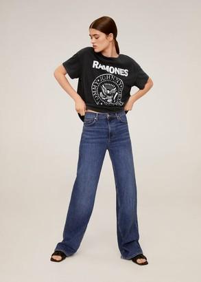 MANGO Ramones T-shirt charcoal - S - Women