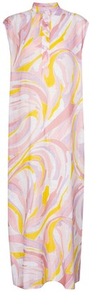 Emilio Pucci Beach Printed cotton maxi dress