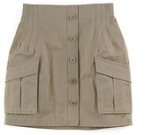 Button Cargo Skirt