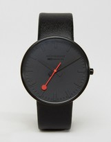 Mondaine Giant Watch In Black/White 42mm