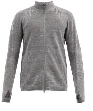 Snow Peak High-neck Zip-up Wool-blend Jacket - Grey