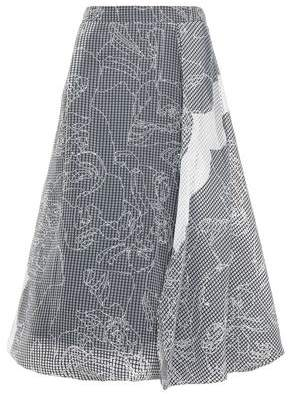 Chalayan Flared Draped Cotton-blend Jacquard Skirt